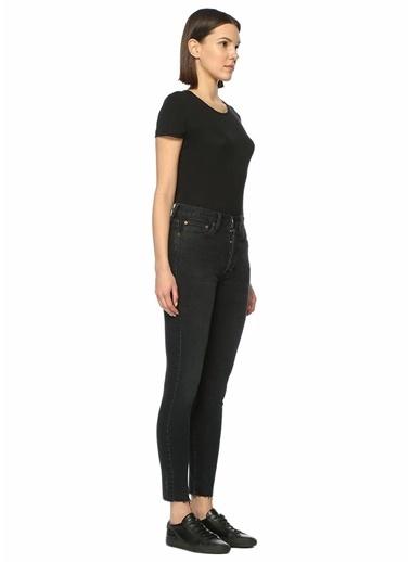 Done Yüksek Bel Dar Paça Jean Pantolon Siyah